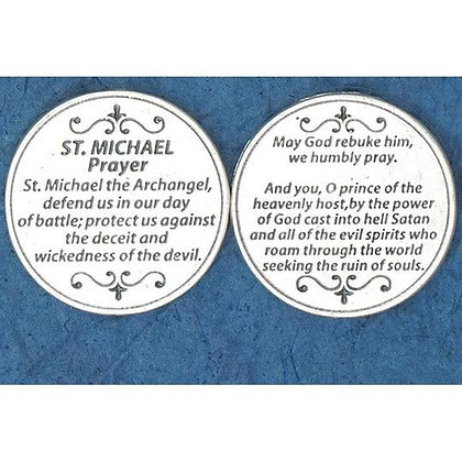 Token with Protection Prayer to Saint Michael