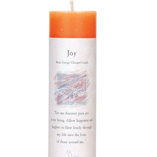 Reiki Charged Joy Pillar Candle