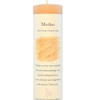 Reiki Charged Mother Pillar Candle