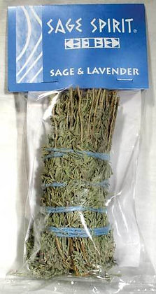 Sage and Lavender 5″ Smudge Wand