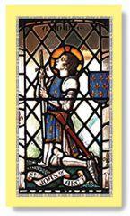 St Joan of  Arc holy card