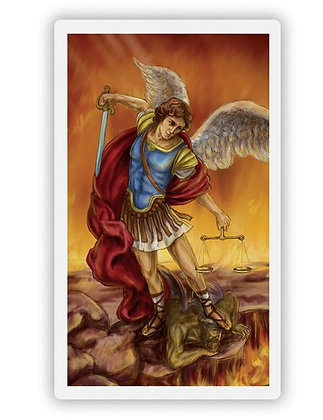 St. Michael Wallet Sized Laminated Holy Card
