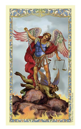 St. Michael Laminated Holy Card