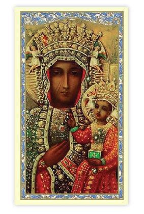 Our Lady of Czestochowa Holy Card