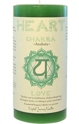 Chakra Pillar Candle - Heart
