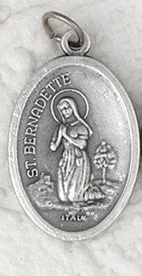 St  Bernadette Relic Medal