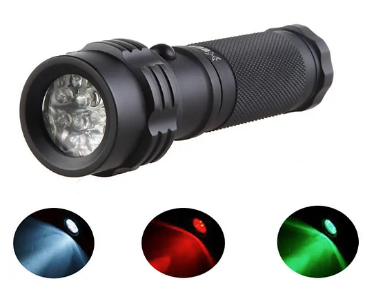11 LED Tricolor flashlight