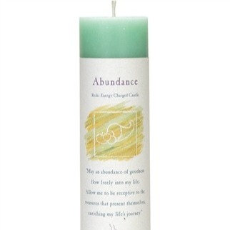 Reiki Charged Abundance Pillar Candle