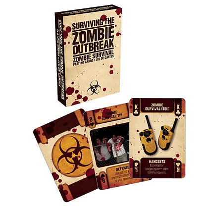 Suviving the Zombie Outbreak playing cards