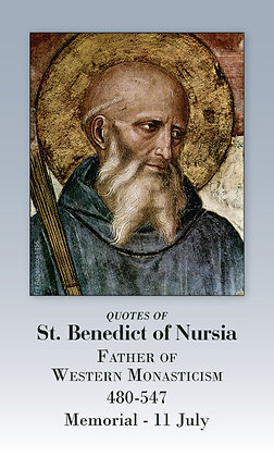 St Benedict Quotes Holy Card