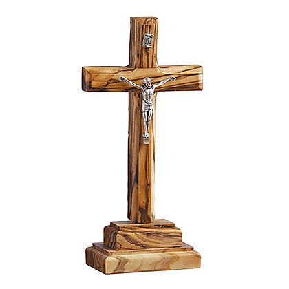 Standing Olivewood Crucifix