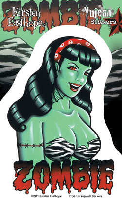 Zombie Pinup Girl Sticker