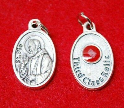 St Pio Relic Medal