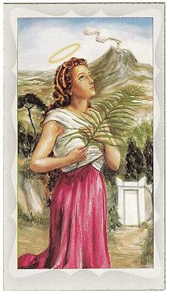 St. Agatha Holy Card