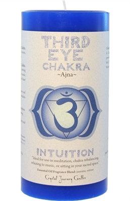 Chakra Pillar Candle – Third Eye