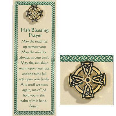 Celtic Cross Lapel Pin with Prayers Bookmark