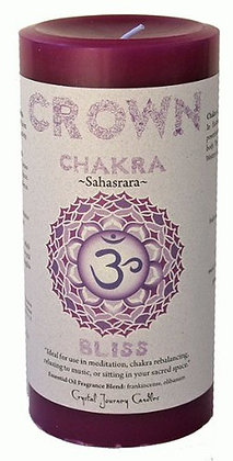 Chakra Pillar Candle – Crown