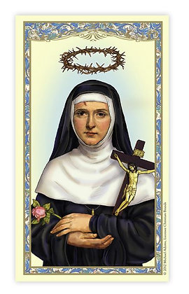 Saint Rita Laminated Holy Card