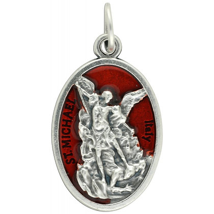 St Michael Red Epoxy Medal