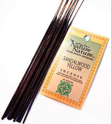 Yellow Sandalwood Resin Incense Sticks