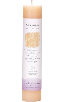 Reiki Charged Compassion Pillar Candle