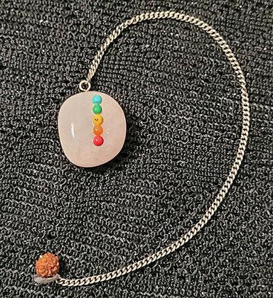 Rose Quartz Chakra Rounded Pendulum