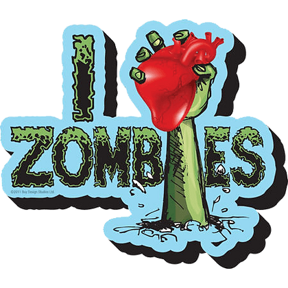 I Love Zombie Magnet