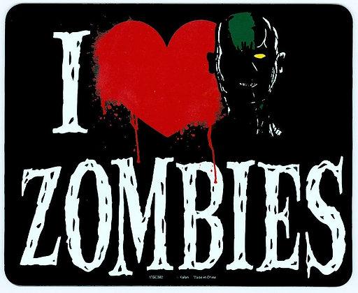 I Love (Heart) Zombies Car Magnet