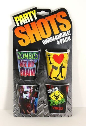 Zombie shot glasses 4 pack