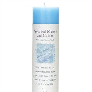 Reiki Charged Ascended Masters and Guides Pillar Candle