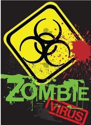 Zombie Virus Magnet