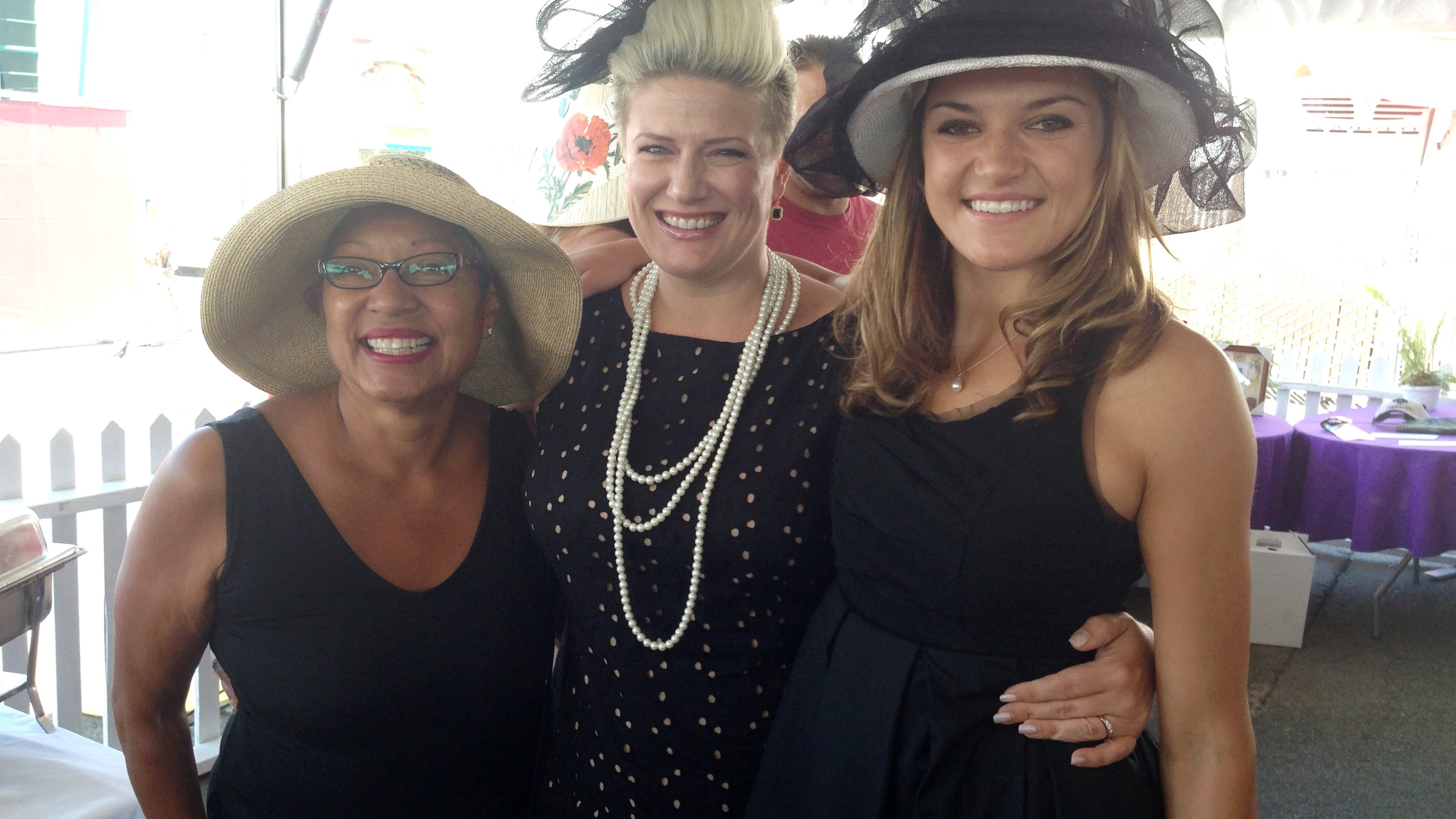 Renee with Viola and Lorraine