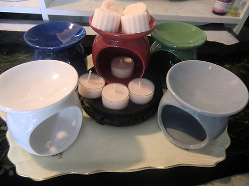 Lotion Tart Warmer Set-Complete Set With Lotion Tarts & Lotion Tealights