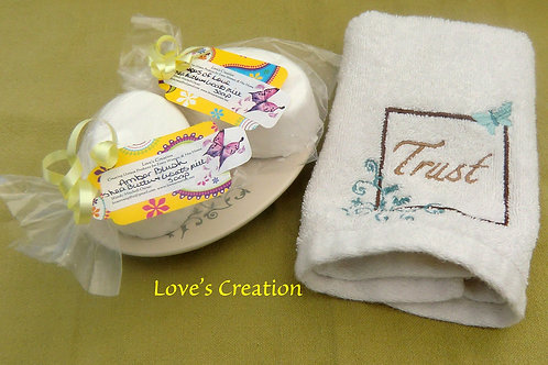 TWO-Luxury Handcrafted Bath Soaps-Wonderful Scents