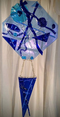 fused Glass, blues, glass art