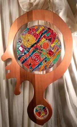 Fused Glass, Glass Art, Blue prize winner