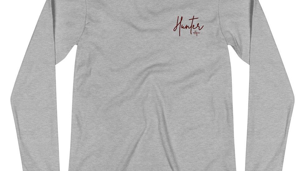 """Hunter"" Embroidered Long Sleeve Tee"