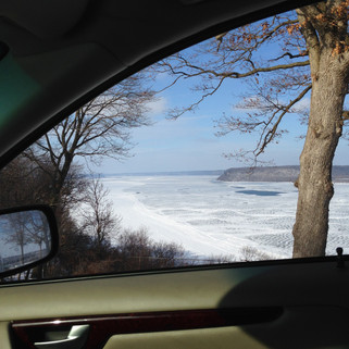 Frozen Mississippi River