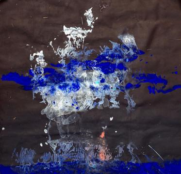 """Blue Eagle Rider, 33x34"""""""