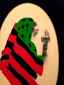 Pray for America, by David Hammons, color altered by NEE