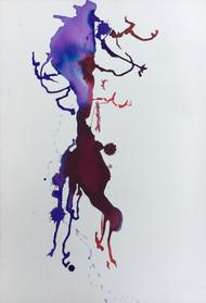 "Big Trees III, ink on paper, 15x10"""