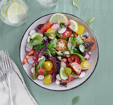 A colorful salad full of local produce
