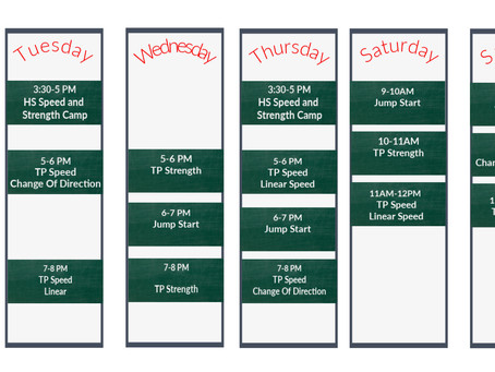 Fall Schedule Posted