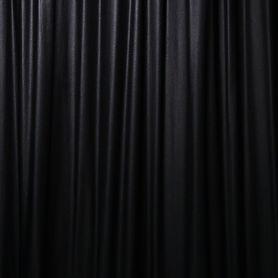 Black Gabardine Polyester Drape
