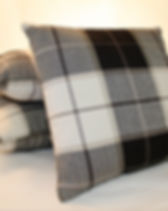 Black and Brown Plaid Pillow