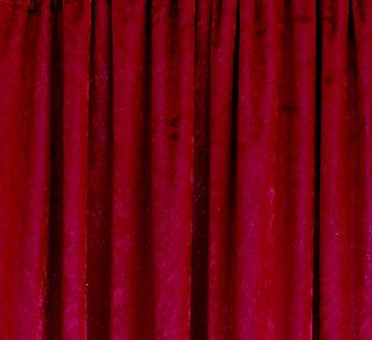Bright Red Crushed Velvet Drape