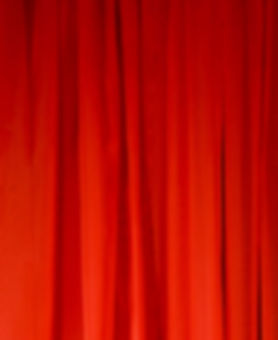 Red Sheer Drape