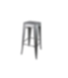 Silver Industrial Nesters Barstool