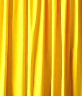 Yellow Velvet Drape