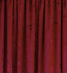 Cranberry Red Crushed Velvet Drape